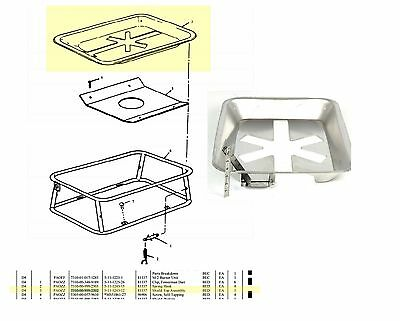 U.S. Army Model M2A Gasoline Field Camping Cooking Burner unit Top shield