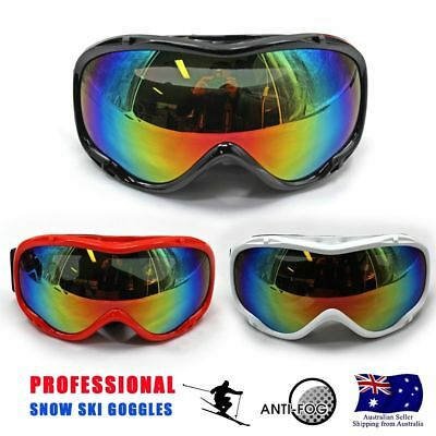 Pro Real Skiing Snowboard Goggles Snow Double Lens Anti-fog UV Ski Glasses