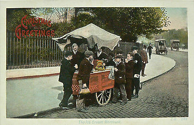 Postcards.topographical'the Ice Cream Merchant'publisher:a&g Taylor's.early Card