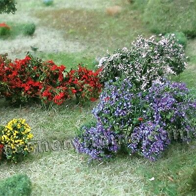 MP SCENERY 10 Flower Bushes O Scale Architectural Flowering Plants Trees