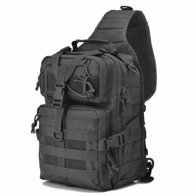 Tactical Outdoor Molle Rucksack Messenger Assault Sling Backpack Shoulder Bag