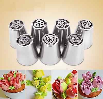 Premium Stainless Steel Nozzles Icing Piping Russian Nozzle Cake Baking Tools CA