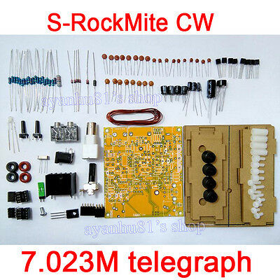 S-Rock Mite CW QRP Transceiver Shortwave Radio Telegraph 7.023M Diy Kits + Case