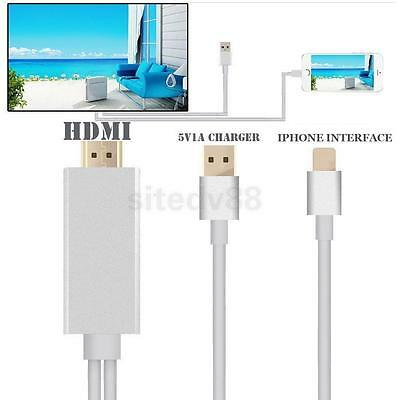 Output 1080P HDTV HDMI AV Cable Adapter Cord for iPhone 5 6 Plus HD Movie Share