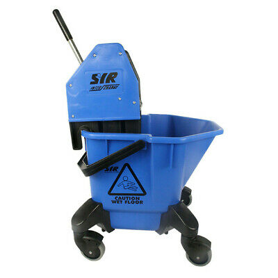 20 Litre Large Mop Bucket on Wheels SYR TC20 - comes with Wringer - BLUE