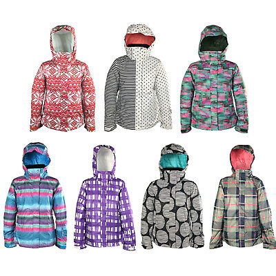 New Roxy Jet Print Womens Snow Jacket Ski Snowboard Waterproof Ladies Coat
