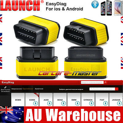 Launch X431 EasyDiag 2.0 for IOS/Android OBDII Code Reader OBD2 Bluetooth Scan