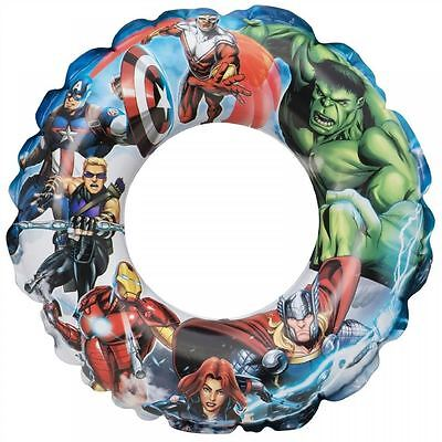 Marvel Avengers Inflatable Kids Swim Ring Swimming Pool Beach Float Lilo Toy