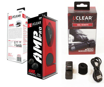 UClear AMP PRO Bluetooth Headset DUAL Motorcycle Intercom and HBC Remote