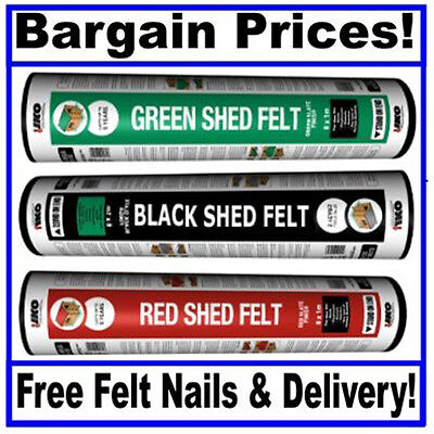 Top Quality IKO Shed Felt - Bargain Prices - 3 Sizes in 3 Different Colours!