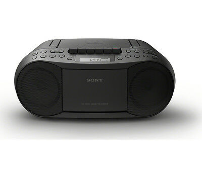 SONY CFD-S70 Boombox LCD Display CD & Cassette Player AM/FM Tuner Black