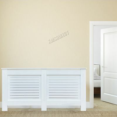 FoxHunter White Painted Radiator Cover Wall Cabinet Wood MDF Modern Home Large