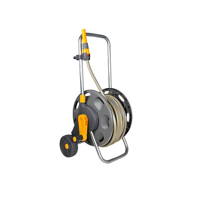 Hozelock 2434 60m Capacity Wheeled Garden Hose Cart with 30m Hose and Fittings