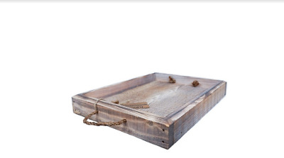 White Washed Handmade Rustic Serving Tray --- Flintface Woodshop