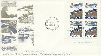 Canada #595 15¢ Landscape Definitive Ll Plate Block First Day Cover