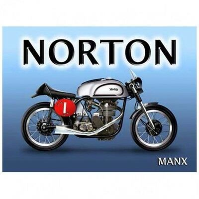 Norton Manx Motorcycle Metal Sign