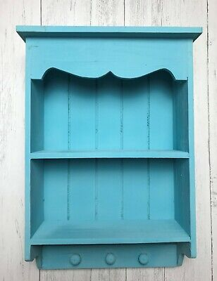 Shabby Chic Wall Unit Vintage Shelf Cupboard Cabinet Small Display Storage Heart