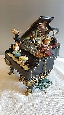 Enesco Grand Piano Mouse Mice Party Musical Novelty FOR PARTS NOT WORKING