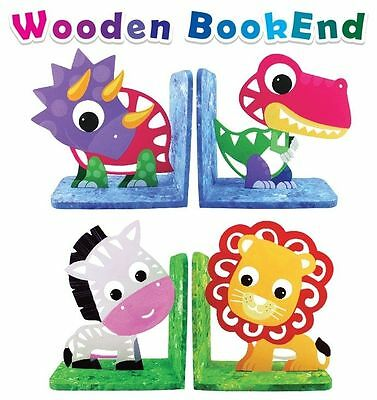 Wooden DIY Bookends Wooden Craft Kit (Makes 1 pair)  Dinosaur or Zoo