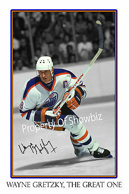 Wayne Gretzky Large Signed Autograph Photo Poster - Great As A Gift Or Keepsake