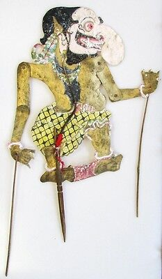 A Traditional Indonesian Shadow Puppet Wayang Kulit Hand-Painted