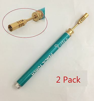 Butane Pencil Torch Refillable Reusable Welding Soldering Jewerly Repair - 2pack