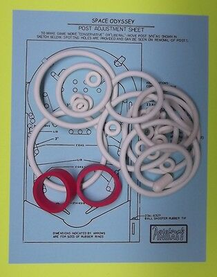 1976 Williams Space Odyssey pinball rubber ring kit