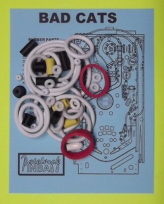 1989 Williams Bad Cats pinball rubber ring kit