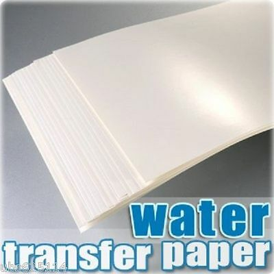 A4 Inkjet Water Slide Decal Paper pack of 20 Transparent