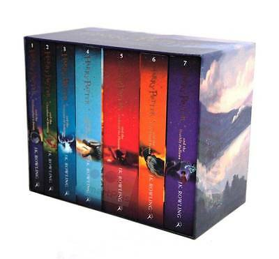 Harry Potter 7 Books Complete Collection Paperback Boxed Set Children Edition 1