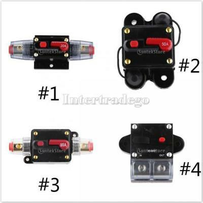 50A-300 Amp Manual Reset Circuit Breaker 12v/24v Car Auto Boat Audio Fuse Holder