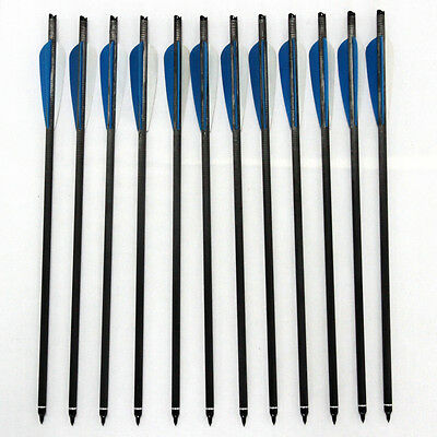 12PCS 8.7mm Carbon arrows Handmade Arrows Compound bow 17/20/22 inch