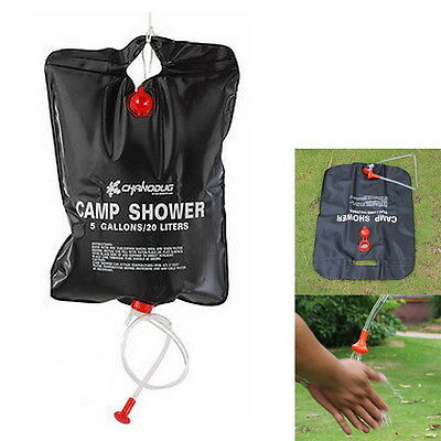 20L Outdoor Camping Hiking Solar Heated Camp Bathing Shower Water Bag Portable