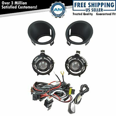 Add On Upgrade Clear Projector Fog Light Bulb Switch Wiring Kit Set for Camaro