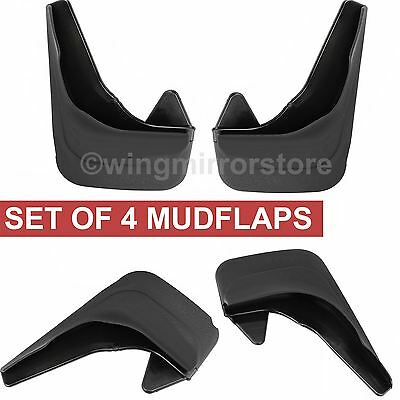 Rubber Moulded set of 4, Rear and Front Mud Flaps for Renault Clio mk2