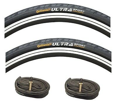 Continental 700c x 23 or 25 Ultra Sport 11 Road Bike Black Bicycle Tyres 700 New