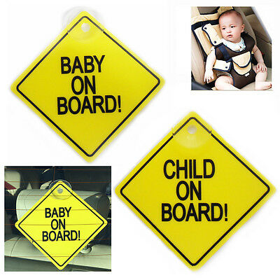 Baby on Board Child Safety includes 1 x Suction Pup Plastic Car Vehicle Signs