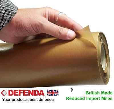 1 x Roll Waxed Brown Kraft Paper 900mmx100m 55gsm Barrier Grease Rust Resistant