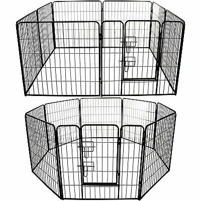 Pet Pen Large Heavy Duty Dog Run Puppy Play Whelping Cage Metal Enclosure Panel