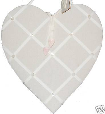 East of India Fabric HEART MEMOBOARD NOTICEBOARD - 2nd Anniversary Gift Cotton !