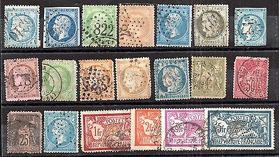 France early unchecked used collection x 20 values ZZ1921