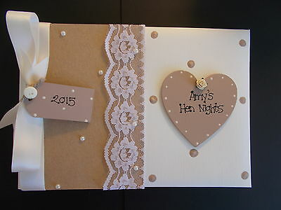 Personalised Hen Do Photo Album/Scrapbook/Memory Gift With Box