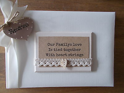 Personalised Family Photo Album/Scrapbook/Memory Gift With Box