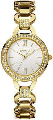 Caravelle New York 44L162 Gold Tone Stainless Steel Crystal Quartz Women's Watch