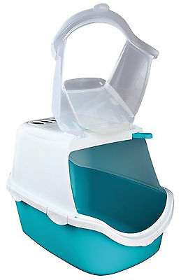 Trixie Vico Easy Clean Litter Tray With Dome 40x40x56cm Turquoise/White