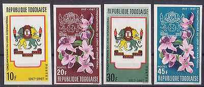 Togo 1967 50Th Anniv. Of Lions International - Flowers Imperforated Mnh M674