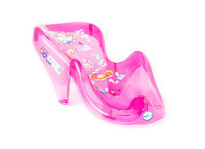 New Essential First Baby Ergonomic Bath Tub Chair Support Fun Animal Aqua Pink