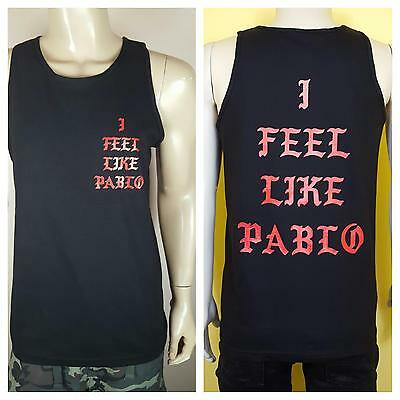 d9824b2892a52b I Feel Like Pablo Black Tank Top Logo Yeezy Kanye West Real Life Yeezus  Famous