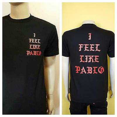 e03c61b5dfa226 I Feel Like Pablo Black T-Shirt Logo Yeezy Kanye West Real Life Yeezus Tee
