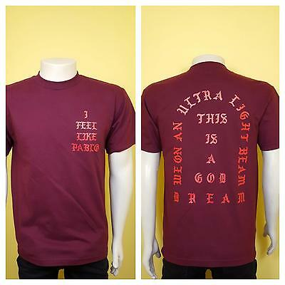 69e65b724b12ad I Feel Like Pablo Burgundy T-Shirt Yeezy Kanye West Real Life Yeezus Tee